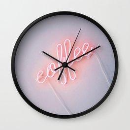 Neon Coffee Wall Clock