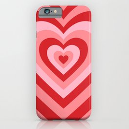 70s psychedelic pink heart iPhone Case