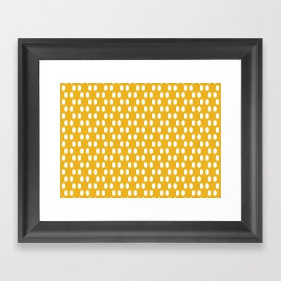 Aelbrecht Yellow Pattern Framed Art Print