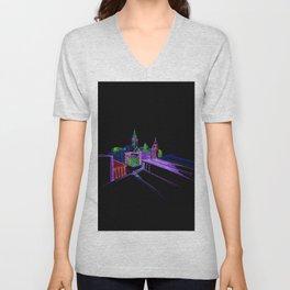 Vibrant city 3 Unisex V-Neck