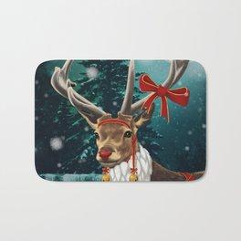 Christmas deer Rudolph Bath Mat