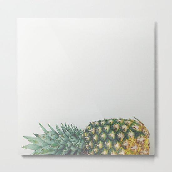 Fallen Pineapple Metal Print