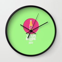 Team bride Oslo 2017 Henparty T-Shirt Dhm65 Wall Clock