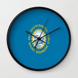 flag of south dakota,america,us,mount rushmore,dakotan,midwest,Sioux fall,rapid city,aberdeen,Pierre Wall Clock