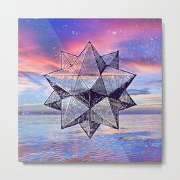 Sacred Geometry Universe 8 Metal Print