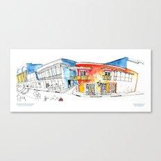 Croquis Calle del Coliseo Cartagena Canvas Print