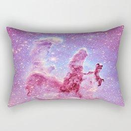 Galaxy nebula : Pillars of Creation lavender mauve periwinkle Rectangular Pillow