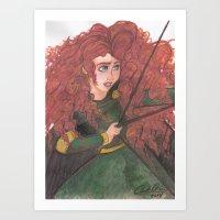 merida Art Prints featuring Merida by carotoki art and love