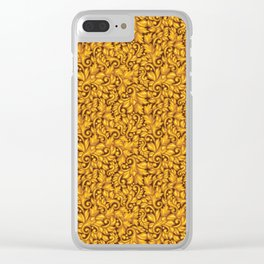 GOLD SCROLL Clear iPhone Case