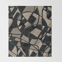 3D Abstract Futuristic Background Throw Blanket