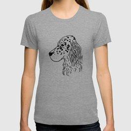 English Setter (Black and White) T-shirt