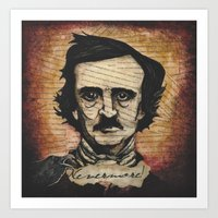 poe Art Prints featuring Poe by Colunga-Art