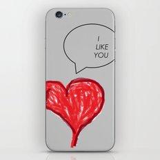 i Like you iPhone & iPod Skin
