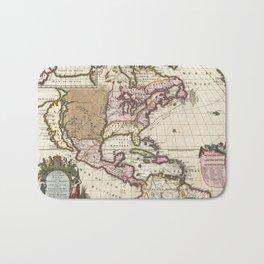 California as an Island!  1698 Vintage Map Bath Mat
