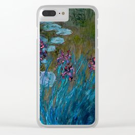 Monet Irises and Water Lilies Clear iPhone Case