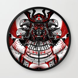 Samurai Artwork Wall Clock