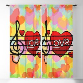 Music Is Love Blackout Curtain