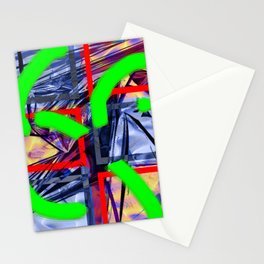 Collage with Mylar effect Stationery Cards