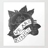"""matty healy Art Prints featuring Matty Healy """"We are Kings"""" Tattoo by The Go Boys"""