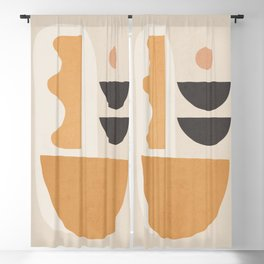 Abstract Art / Shapes 17 Blackout Curtain