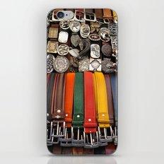 Italian leather belts, Florence market iPhone & iPod Skin