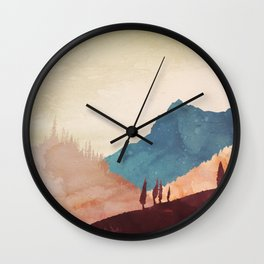 Abstract Mountainscape  Wall Clock
