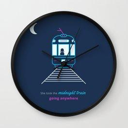 Midnight Train Wall Clock