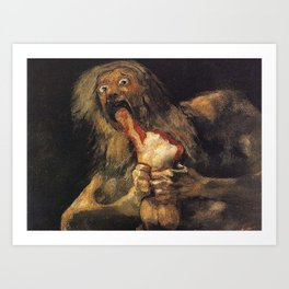 SATURN DEVOURING HIS SON - GOYA Art Print