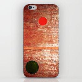 Metallic Face (Red Version) iPhone Skin