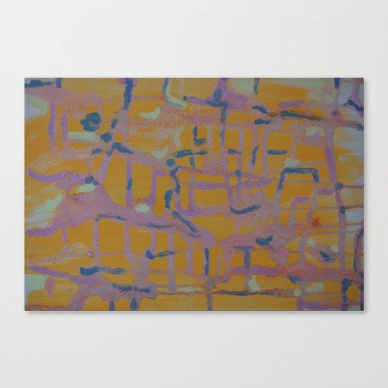 Pastel Map Canvas Print