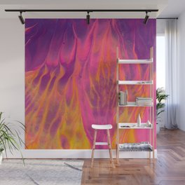 Candy Coated Gold Fire Abstract Painting Wall Mural