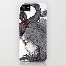 Swan Song art print iPhone (5, 5s) Slim Case