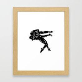 Greco-Roman wrestling Framed Art Print