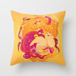 I'm on fire Throw Pillow