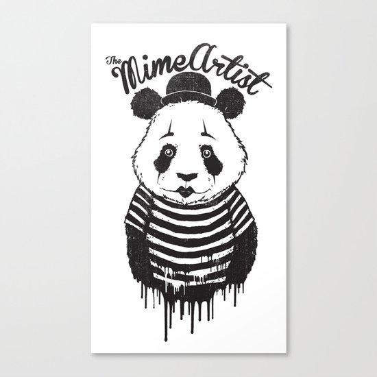 The Mime Artist Canvas Print
