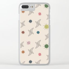 Midcentury Planets And Boomerangs 2 Clear iPhone Case