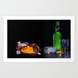 Fabada is a typhical spanish legumes dish Art Print