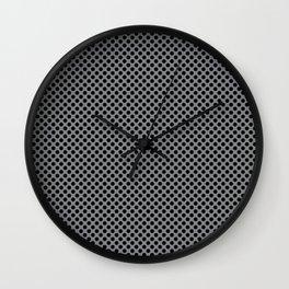 Sharkskin and Black Polka Dots Wall Clock