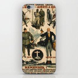 Vintage poster - Once a German iPhone Skin