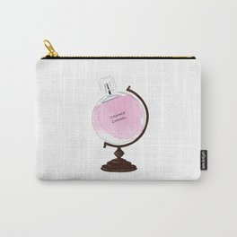 Pink Perfume Globus Carry-All Pouch