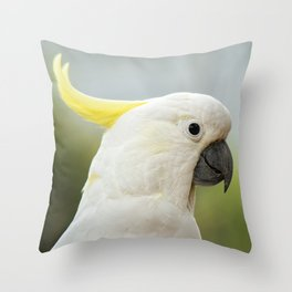 Yellow Crested Cockatoo Throw Pillow