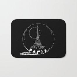 Paris city in a glass ball . Home decor, art prints Bath Mat