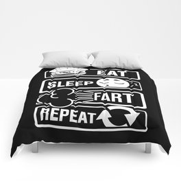 Eat Sleep Fart Repeat | Farting Flatulence Smell Comforters