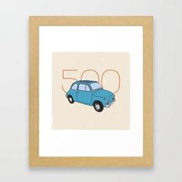 Fiat 500 - Classic Vintage Car Framed Art Print
