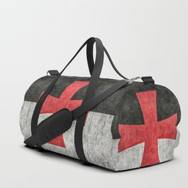 Knights Templar Symbol with super grungy textures Duffle Bag