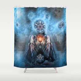 Dread-ress on Ice Shower Curtain