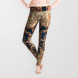 Ferahan  Antique West Persian Rug Print Leggings