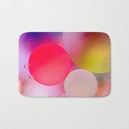 Multicolored Pastel Oil Bubble Water Drops Bath Mat