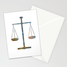 Scales of justice Stationery Cards