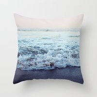 shipping Throw Pillows featuring Crash into Me by Leah Flores